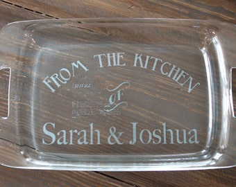 Personalized 9x13 Pyrex with Lid - From the Kitchen of