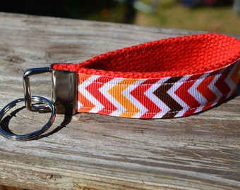SALE! Fall Chevron Keychain