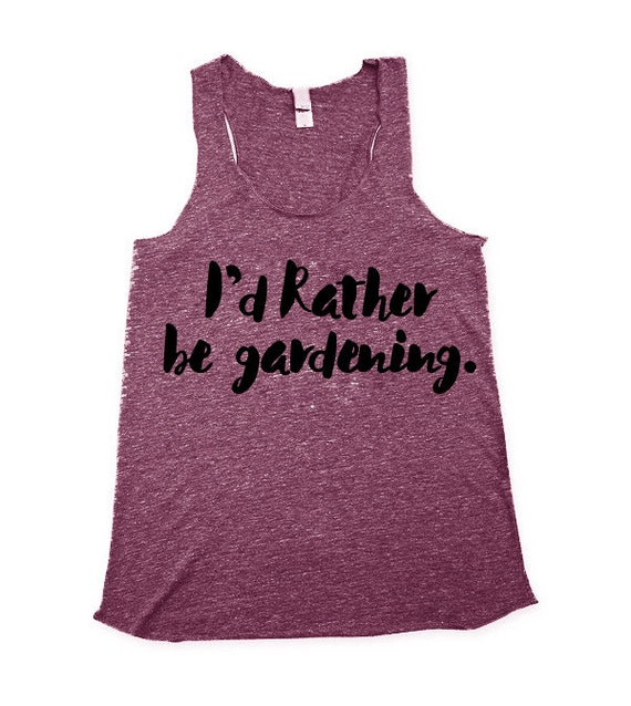 Id rather be gardening Tank Top - gardening Tank top for Women - Fitted Tanks - Womens eggplant shirts - XS, Small, Medium, Large, XL, 2X