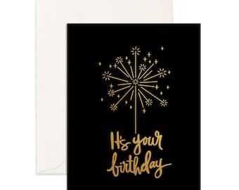 Birthday Sparkler Greeting Card