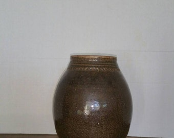 Beautiful studio vase signed West, 1975.
