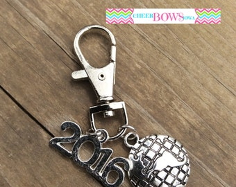 WORLDS 2017 Globe Zipper Pull / Keychain