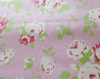 Shabby Chic Tanya Whelan Rose  Vine in Pink Fabric by the Yard