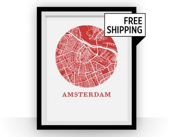 Amsterdam Map Print - City Map Poster