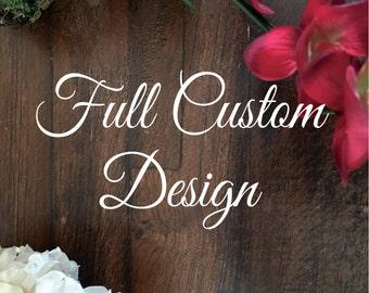 Full Custom Design on Tumbled Marble Tile