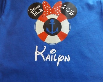 Disney Cruise Shirt - Little Boy or Little Girl Personalized Mickey Mouse Minnie Mouse - Custom T-shirt - Heat Transfer Vinyl