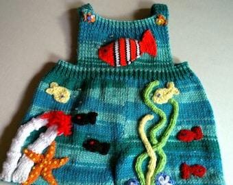 Undersea Overall Shorts