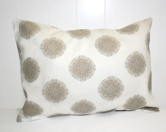 Decorative Indoor Nate Berkus White and Tan Doe, Home Decor Pillow