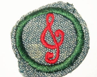 "Vintage Girl Scout Badge ""Musician"" circa late 1930's-40's"