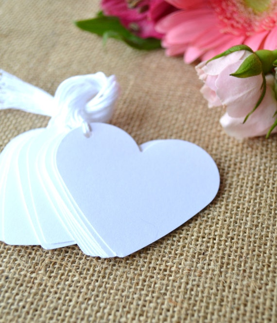 Wedding Favor Tags With String : string, heart wedding favor tags, white price tags, white favor tags ...