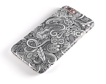 Hippie Dippie Doodles - iNK-Fuzed Hard Case for the Apple iPhone - Samsung Galaxy & More
