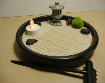 P01-Pagoda Zen Garden with Tea Light Candle - DIY Kit