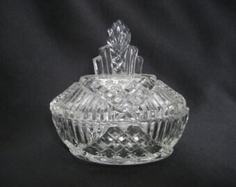 Vintage Crystal Glass Deep Cut Vase Brilliant By