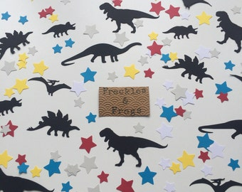 Dinosaurs & Stars Table Confetti Black/Brights Birthday Party Dinosaur Theme