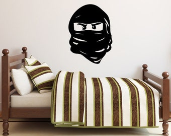 Ninjago Mask Lego Decal - Vinyl Wall Decal Sticker