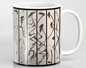 Unusual Solar Etching - Solar Art - Solar Pyrography ~ Multi-Panel Design #4 / Classy Ceramic Beverage Mug for Coffee, Tea, Hot Toddy, etc