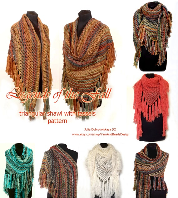 Loose Knit Shawl Pattern : Knitting Pattern Loose knit oversized cover up Triangular knit shawl Instant ...