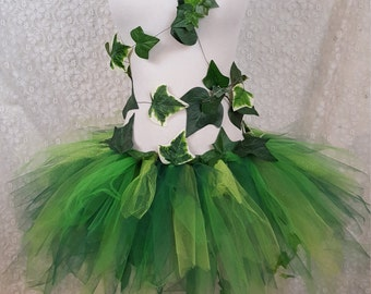Adult Ivy Leaf Costume, Green Leaf Tutu, Garden Fairy Tutu, Wood Nymph Tutu, Poison Ivy Cosplay, Fairy Costume, Ivy Leaf Cosplay, Ivy Tutu
