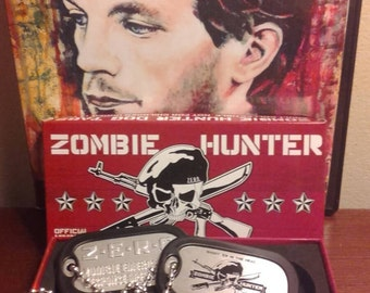 Zombie hunter dog tags necklace