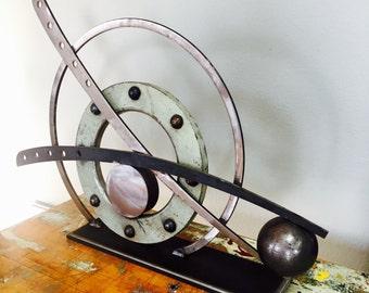 "Industrial modern contemporary sculpture urban industrial fine art office decor wedding gift. ""Scissor lift"""
