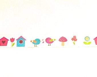 Bird Washi Tape, Birdhouse Washi Tape, Washi Tape, Planner Washi, Planner Tape, Scrapbook Embellishments, Scrapbook Washi, Birds