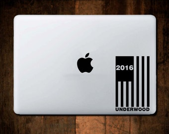 House of Cards Underwood Decal 2016 Laptop Decal, Frank Underwood, President 2016, Macbook decal, Laptop Sticker