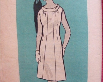 51% OFF Mid Century Misses' One Piece Dress Uncut Mail Order Anne Adams Sewing Pattern 4562 Size 22 1/2 Bust 43""