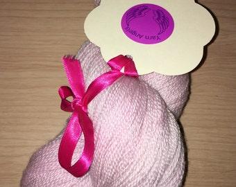Pink Pearl, lace, silk, yarn