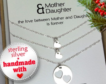 Mother daughter necklace set mother daughter by for Jewelry for mom for christmas