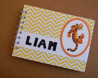 """Personalized TIGGER Autograph Book and Photo Album - 5""""x7"""" ~ Personalized Disney Autograph Book"""
