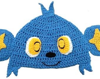 Shinx Inspired Hand Crocheted Hat