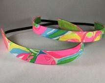 Non Slip HeadbandS; EmBands- Lilly Pulitzer Inspired So A Peeling No-Slip Headband; Girls Headband; Nurse Headband; Lilly Headband