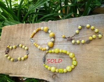 yellow bracelets