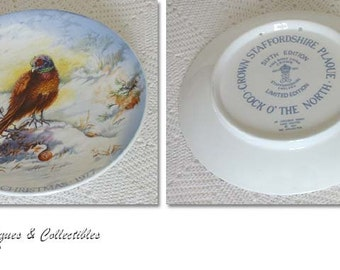 Vintage Crown Staffordshire Christmas Collector Plate Dated 1977 (Inventory #CH667)