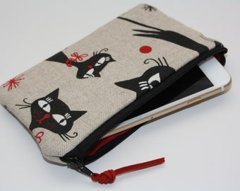 Cats iPhone 6 sleeve-iPhone 6 covers-iPhone 6 case-iPhone 6 sleeve-iPhone 6 cell-iPhone 6-iphone case- /iPhone 6 tasche/Linen case iPhone 6