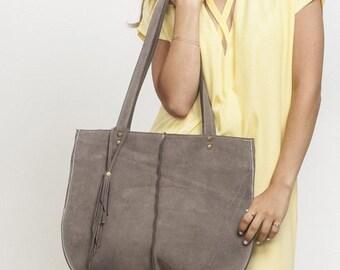 Tote bag, Soft leather bag, Office Bag, Grey Shoulder Bag, Casual Bag, New Collection!