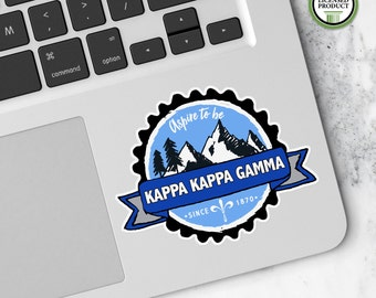 Kappa Kappa Gamma KKG | Small Badge Decal | Sorority Big Little Reveal Gift | Official Licensed Product | KKG-BD