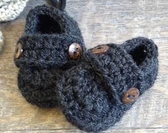 Newborn Shoes, Baby Boy Booties, Crochet Loafers, Baby Boy Boat Shoes, Newborn Boy Shoes