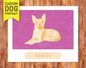 Custom Dog Portrait Chihuahua Wall Art Print – custom dog portrait