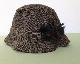 Irish Tweed Walking Hat by Jonathan Richard Size 7-1/4 59