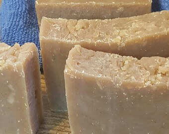 Homemade Goat Milk Soap - Lauren's Goodness Soap Bars - Cold Process Soap - Milk Soap - Honey Soap - Oatmeal Soap - Mild Soap - Creamy Soap
