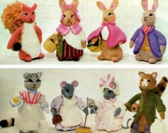 INSTANT DOWNLOAD PDF  Vintage Crochet Pattern Beatrix Potter Peter Rabbit and Friends 11 Toys  Toy Retro Amigurumi