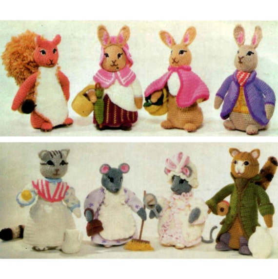 Amigurumi Peter Rabbit : INSTANT DOWNLOAD PDF Vintage Crochet Pattern Beatrix Potter