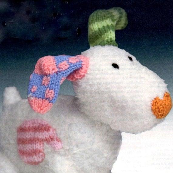 Knitting Pattern PDF The Snowmans Snowdog Toy Snow Dog