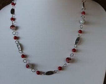 """28"""" asian inspired necklace, earrings and bracelet set"""