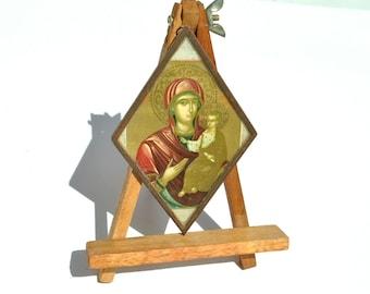 Virgin Mary, Jesus Christ, Orthodox Metal Icon, Byzantine Icon, Religious Icon, Religious Gift, Catholic Decor, Christian Art, Jesus Art