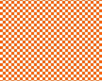 Orange checkerboard craft  vinyl pattern sheet - HTV or Adhesive Vinyl -  htv2400
