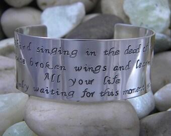 Beatles inspired bracelet - Blackbird singing in the dead of night...
