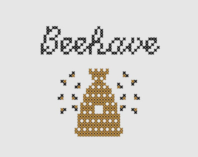 Cross stitch pattern 'Beehave'