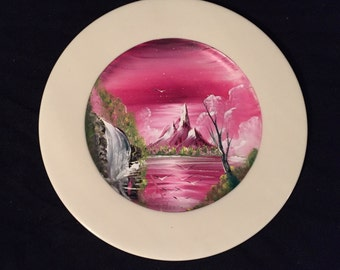 Signiture Miguel Lopez Tula original oil hand painted plate